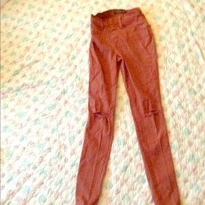 Fashion Nova Burgundy Jeans